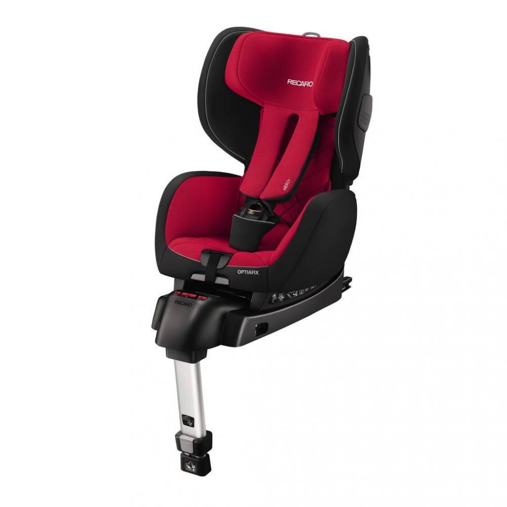 Scaun auto pentru copii cu isofix OptiaFix Racing Red imagine