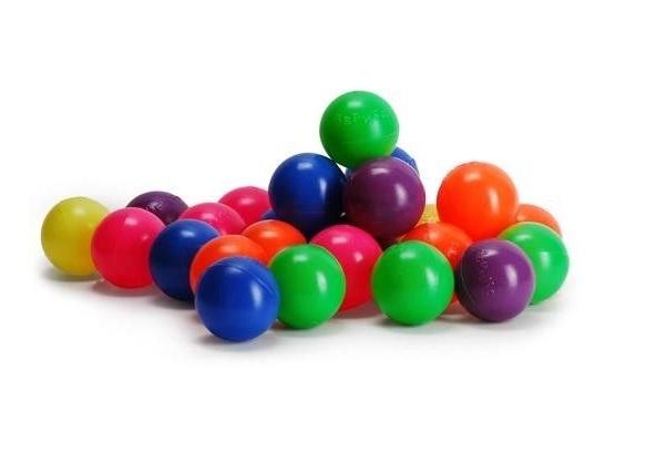 Set 100 bile Pilsan mici de 6 cm Multicolor