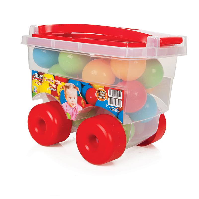 Set Troller Cu 24 Bile Colorate