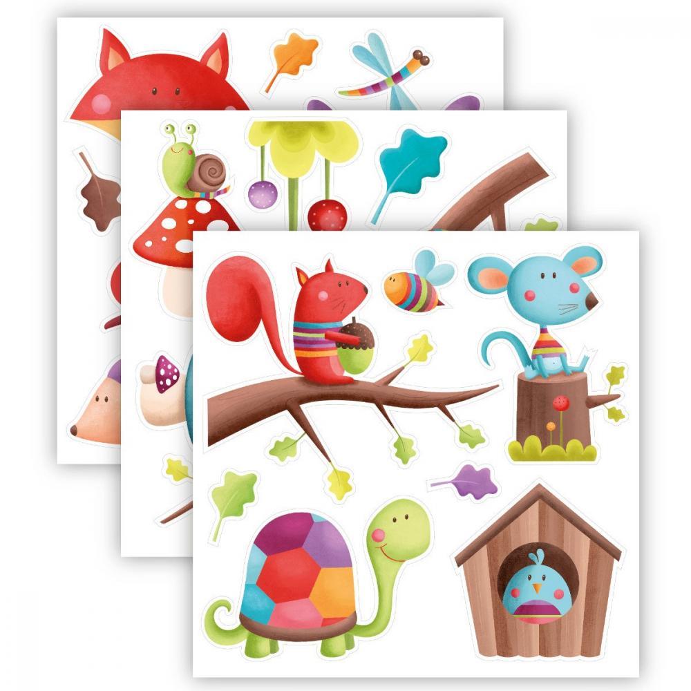 Stickere pentru decorarea camerei copilului - Pui de animalute