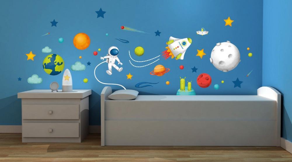 Stickere Pentru Decorarea Camerei Copilului- Spatiu Cosmic
