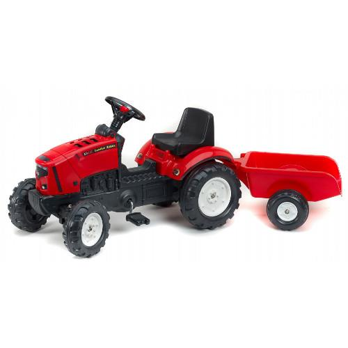 Tractor cu pedale si remorca Lander Rosu Z160X