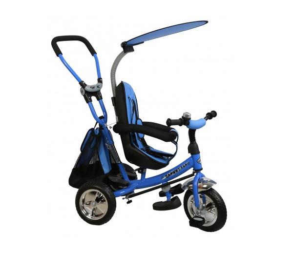 Tricicleta copii cu scaun reversibil Baby Mix Safari WS611 albastru imagine