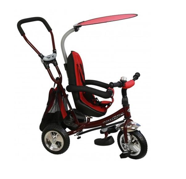 Tricicleta copii cu scaun reversibil Baby Mix Safari WS611 bordo imagine