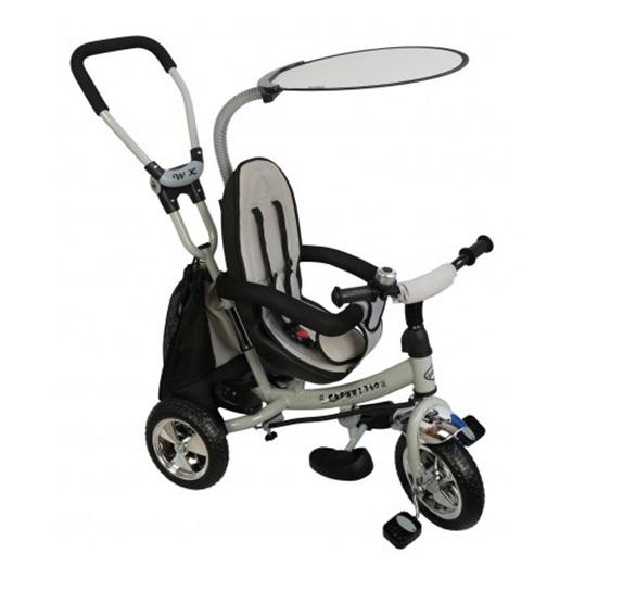 Tricicleta copii cu scaun reversibil Baby Mix Safari WS611 gri imagine