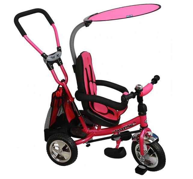 Tricicleta copii cu scaun reversibil Baby Mix Safari WS611 pink imagine