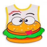 Bavetica impermeabila cu scai Baby Bib Hamburger