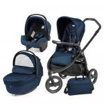 Carucior 3 in 1 Book Scout Matt Black Sportivo Geo Geo Navy