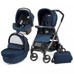 Carucior 3 in 1 Peg Perego Book Plus 51 Black Sportivo Geo Geo Navy