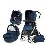 Carucior 3 in 1 Peg Perego Book Plus 51 Black&White Sportivo Geo Geo Navy