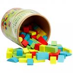 Galetusa cu cuburi colorate din lemn