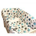 Lenjerie de pat Maxi cerculete albastre 120x60 cm