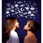 Luna si stele fosforescente