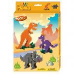 Margele de calcat Dinozauri Midi in cutie cadou cu agatator