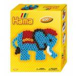 Margele de calcat Elefantul Midi in cutie Hama special