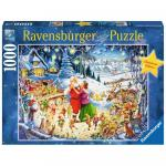 Puzzle - Petrecere de Craciun 1000 piese