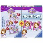 Puzzle + joc memory Printesa Sofia 3 buc in cutie 15/20/25 piese