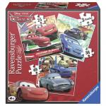 Puzzle Cars 3 buc in cutie 25/36/49 piese