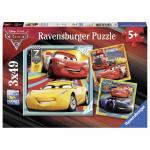 Puzzle Cars 3x49 piese
