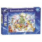 Puzzle Craciunul in familie Disney 100 piese