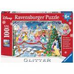 Puzzle Craciunului Printeselor Disney 100 piese
