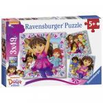 Puzzle Dora si prietenii 3x49 piese