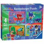 Puzzle Eroi in Pijamale 4 buc in cutie 12/16/20/24 piese