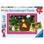 Puzzle Masha si Ursul 2x12 piese