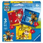 Puzzle Patrula Catelusilor 3 buc in cutie 25/36/49 piese