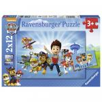 Puzzle Ryder si Patrula Catelusilor 2x12 piese