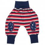 Pantaloni Joga din bumbac organic Iobio Stripped Red 74/80