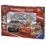 Puzzle Cars 2x12 piese