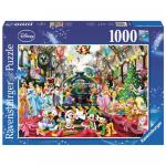 Puzzle Craciunul in Familia Disney 1000 Ppiese