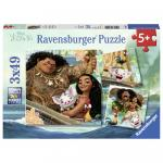 Puzzle Vaiana 3X49 Piese