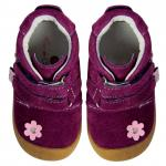 Pantofiori bebelusi Suede Flower Purple 19