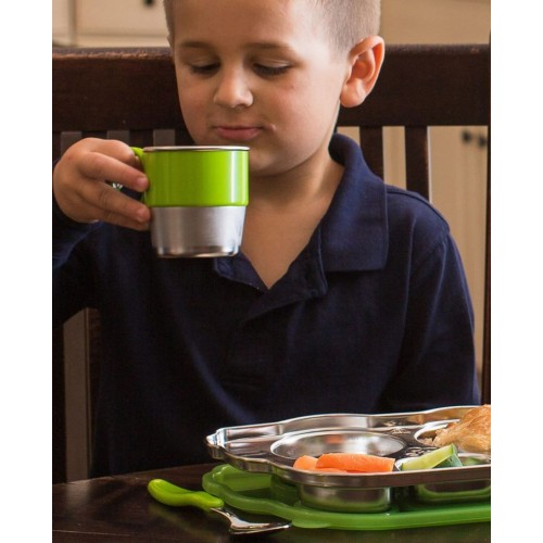 Cana de invatare Smart Stainless Cup Green