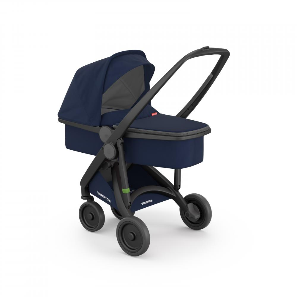 Carucior 2 in 1 Black Blue 100 Ecologic