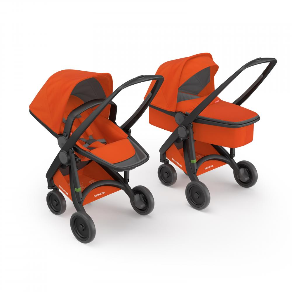Carucior 2 in 1 Black Orange 100 Ecologic