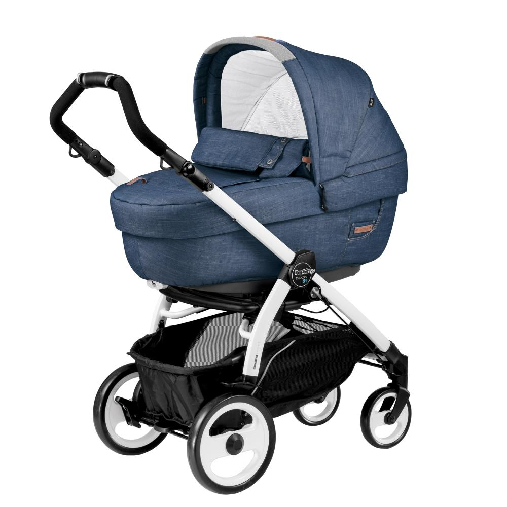 Carucior 3 In 1 Peg Perego Book Plus 51 BlackWhite Completo Elite Urban Denim