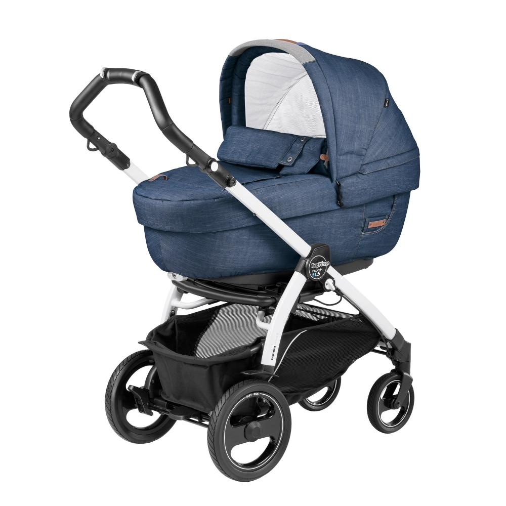 Carucior 3 In 1 Peg Perego Book Plus 51 S BlackWhite Completo Elite Urban Denim