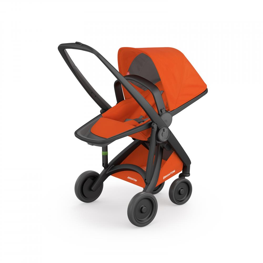 Carucior Reversible 100 Ecologic Black Orange imagine