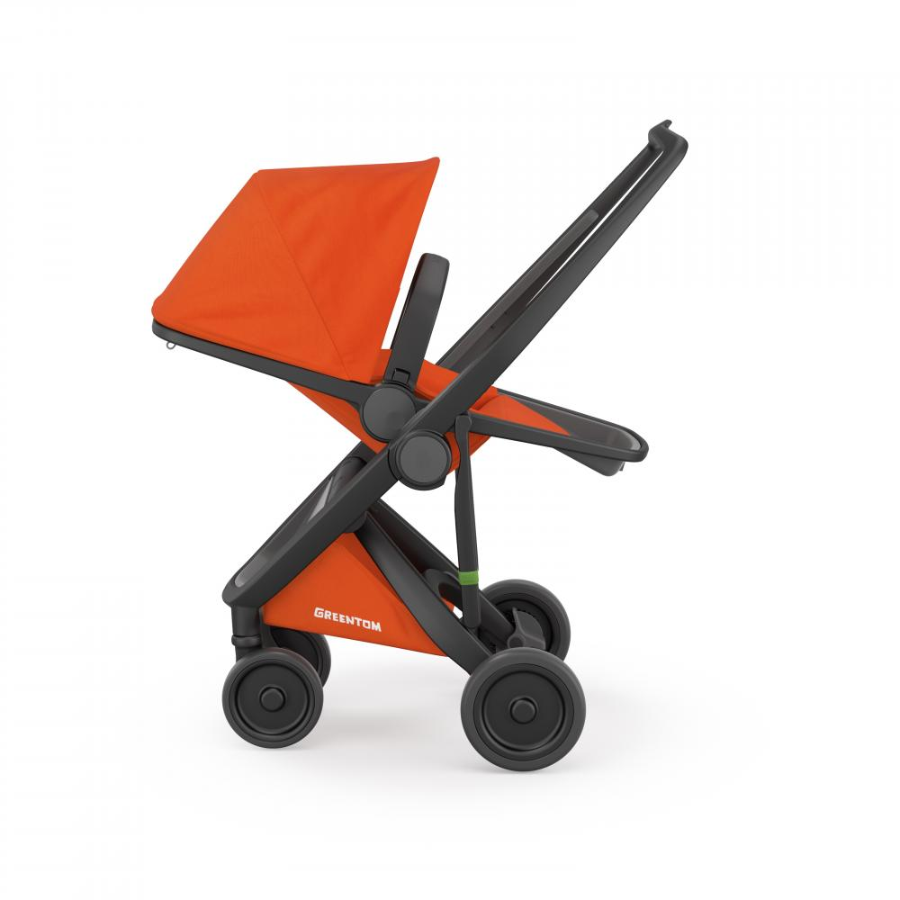 Carucior Reversible 100 Ecologic Black Orange