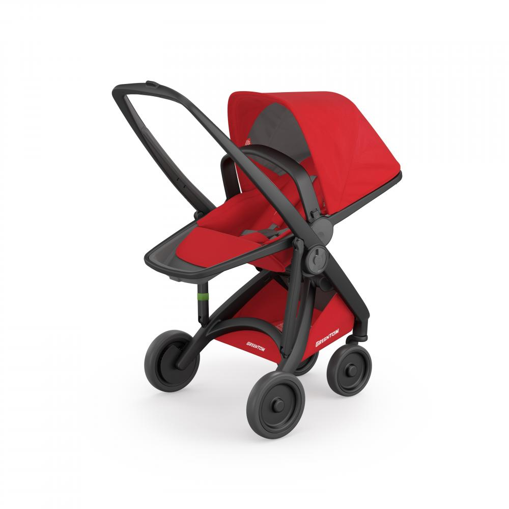 Carucior Reversible 100 Ecologic Black Red imagine