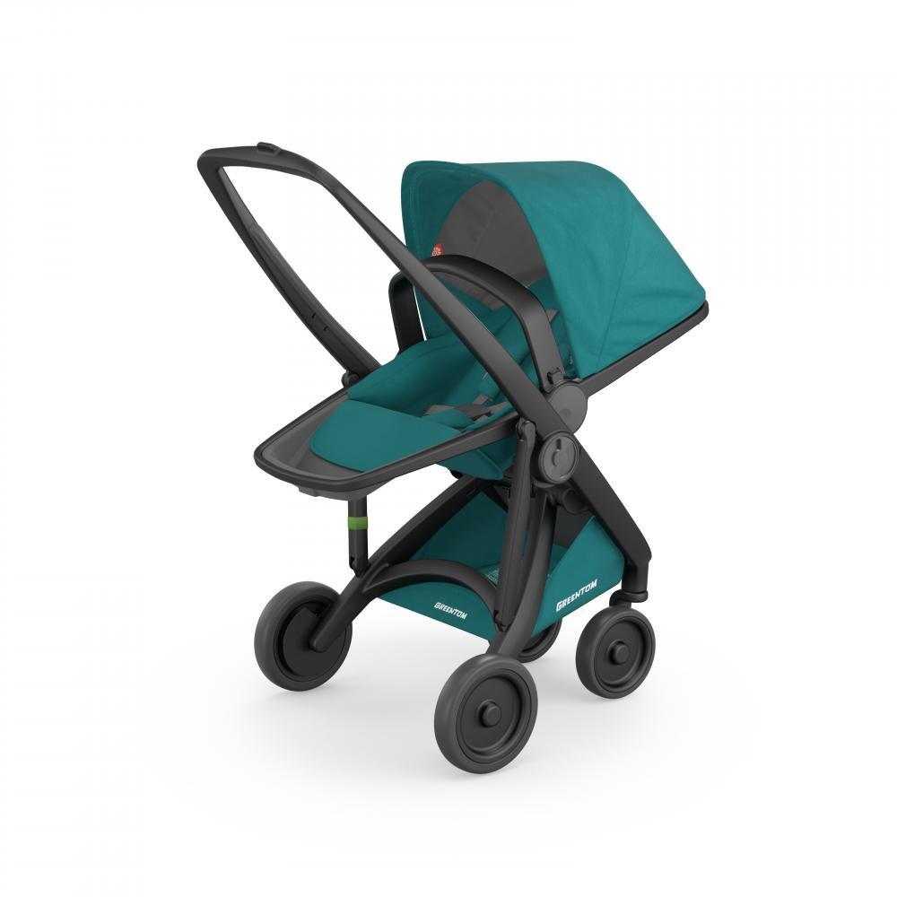 Carucior Reversible 100 Ecologic Black Teal imagine
