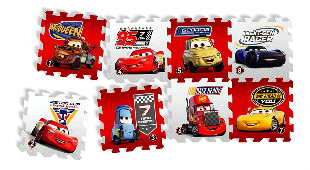 Covor puzzle din spuma Cars 8 piese