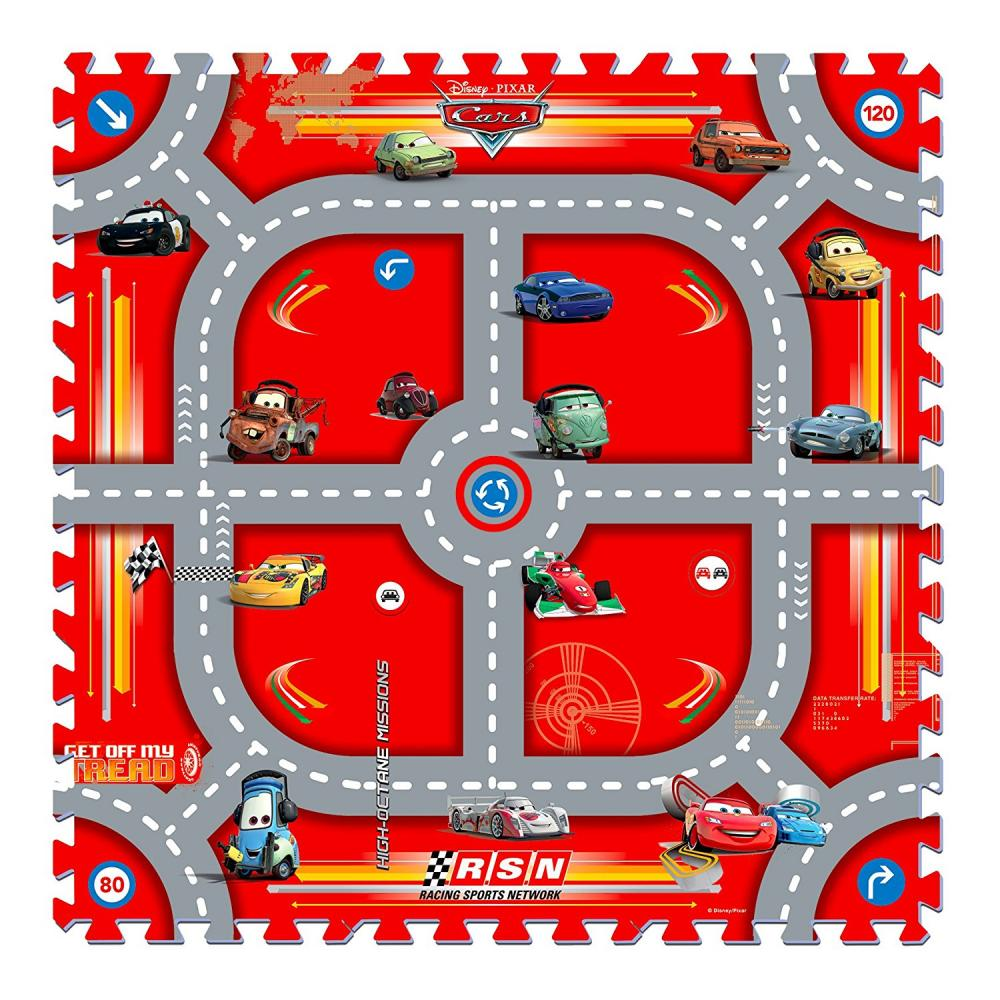 Covor puzzle din spuma Cars 17 piese