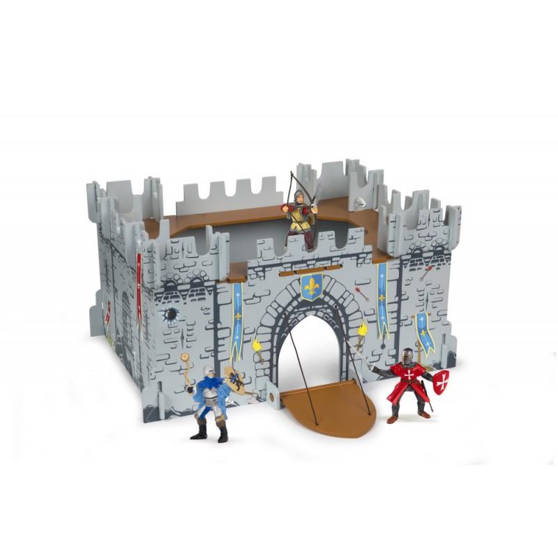 Set Castel carton+3 figurine