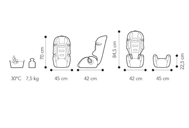 Fotoliu auto 9-36 kg Brevi Tao 233