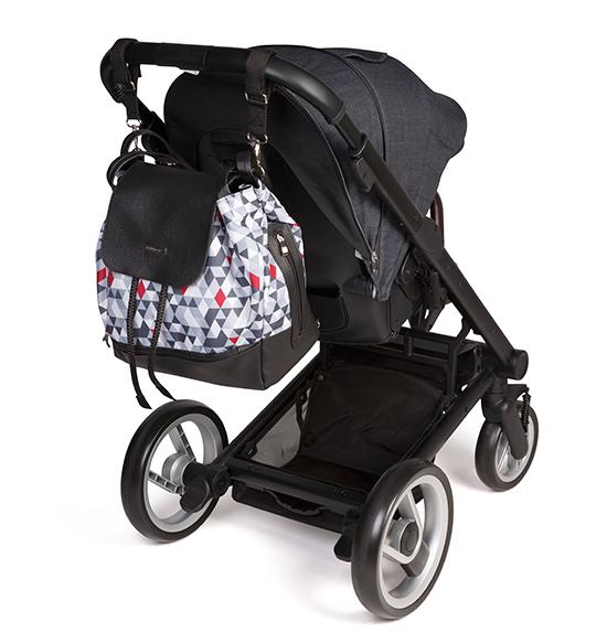 Geanta pentru mamici Baby Ono tip rucsac Uptown Black - 6