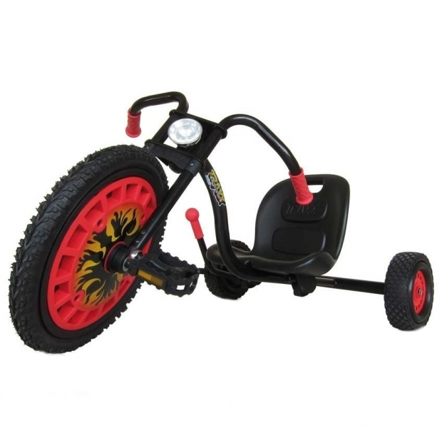 Kart cu pedale Go Kart Typhoon Black/Red